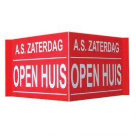 Open Huis bord